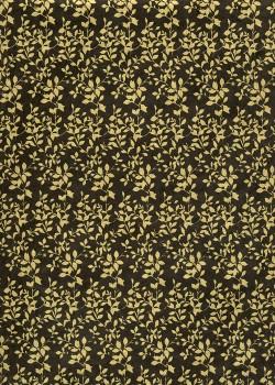 Lokta feuillage or fond noir (50x75)