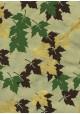 Lokta feuilles d'érable ton vert brun et or (50x75)