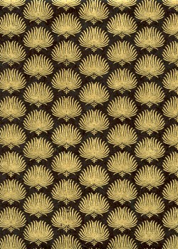 Lokta palmes or fond noir (50x75)