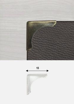 Angles lune bronze (15x15mm)