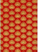 Lokta palmes or fond rouge (50x75)