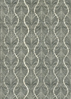 Lokta palmyre ivoire et noir (50x75)