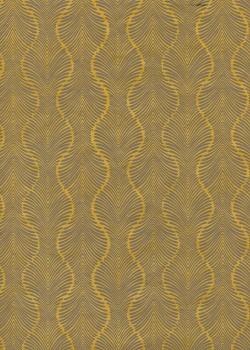 Lokta palmyre gris et moutarde (50x75)