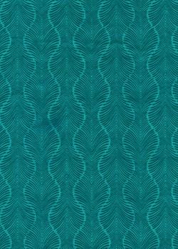 Lokta palmyre turquoise et bleu nuit (50x75)