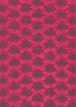 Lokta palmes fond rose fuchsia (50x75)