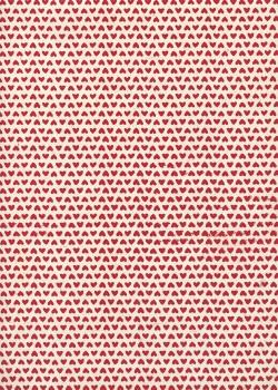 Lokta mini coeurs rouges fond naturel (50x75)