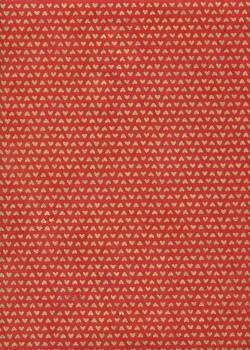Lokta mini coeurs or fond rouge (50x75)