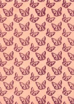 Lokta papillons bordeaux fond rose fané (50x75)