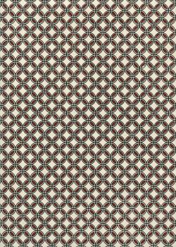 Lokta rosaces rouges et noires fond naturel (50x75)