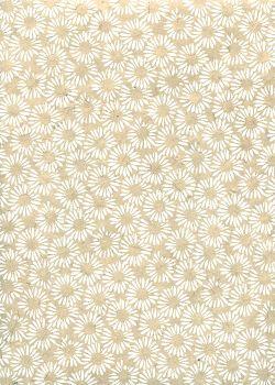 Lokta marguerites ambiance lin et blanc (50x75)