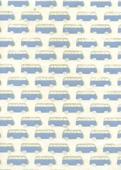 Lokta combi bleu fond naturel (50x75)