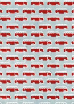 Lokta combi rouge fond bleu clair (50x75)