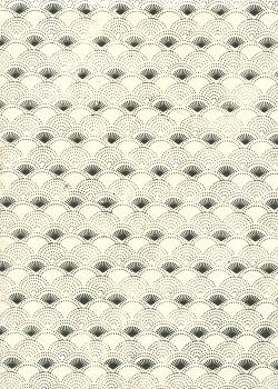 Lokta eventails noirs sur fond ivoire (50x75)
