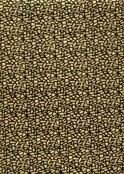 Lokta mosaique or sur fond noir (50x75)