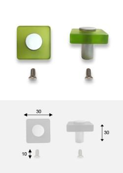 Bouton Carré vert anis