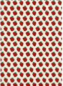 Lokta les fraises rouges fond ivoire (50x75)