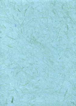 Véritable Gampi bleu vert (42x60)