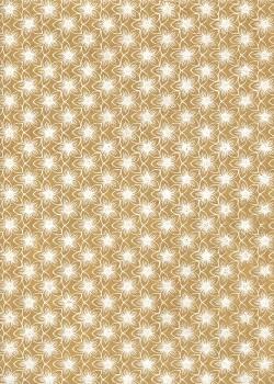 Lokta fleurs blanches fond havane (50x75)