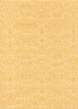 Ornement blanc nacré fond ocre jaune (54x78)