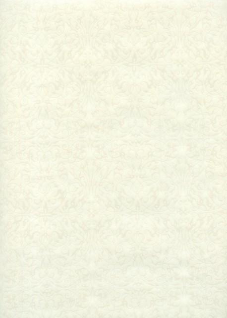 """""""Ornement"""" blanc nacré fond ivoire (54x78)"""