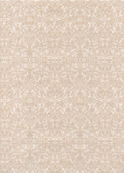 """Ornement"" blanc nacré fond rose fané (54x78)"