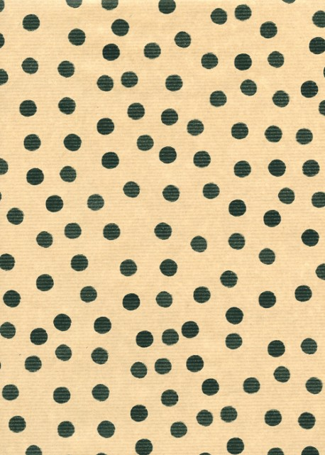 """""""Kraft fantaisie"""" pois noirs (70x100)"""