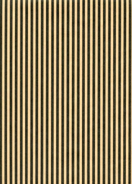 """""""Kraft fantaisie"""" fines rayures noires sur kraft (70x100)"""