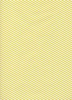 """Kraft fantaisie"" rayures diagonales jaunes fond blanc (70x100)"