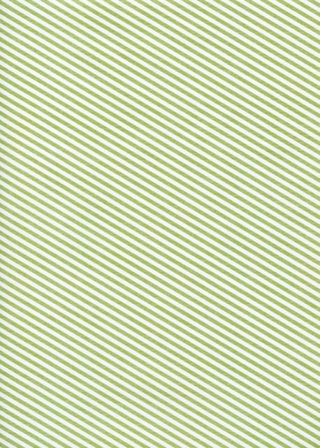 """Kraft fantaisie"" rayures diagonales vertes fond blanc (70x100)"