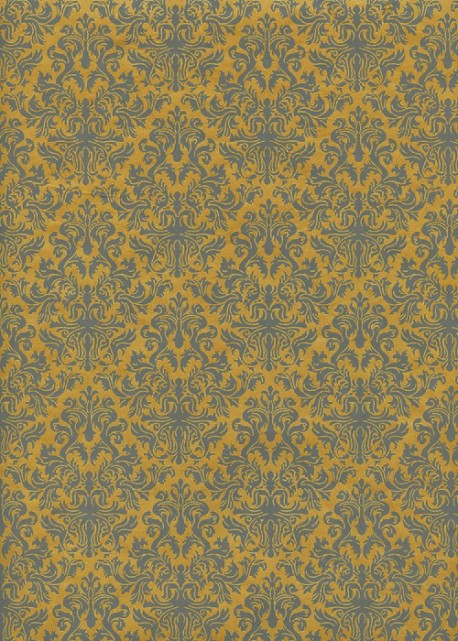 Lokta barocco jaune moutarde (50x75)