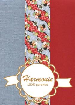 HARMONIE TRIO Japonais floral pervenche et rouge