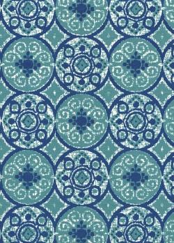 """""""Papier de coton"""" faience verte et bleue (55x76)"""