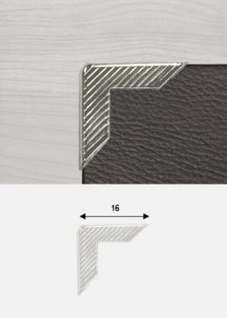Angles striés argent (16x16mm)