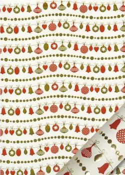 Les guirlandes de Noël rouges et or (50x70)