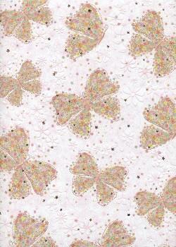 Papier Turnowsky papillons de fleurs réhaussé or (50x70)