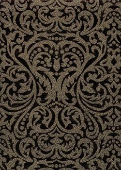 """""""Allegria"""" martelé or cuivré impression noire (56x76)"""
