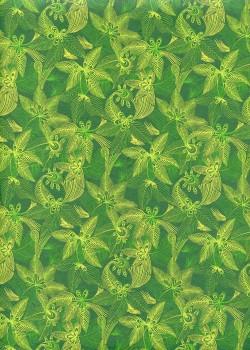 """""""Jungle"""" fond vert (50x70)"""
