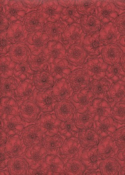 Anémones fond rouge (50x70)