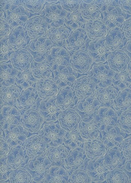 Anémones fond bleu (50x70)