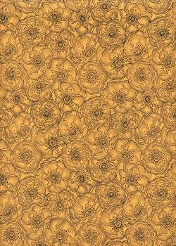 Anémones fond jaune (50x70)