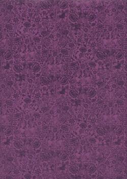 Sérénité fond violet (50x70)