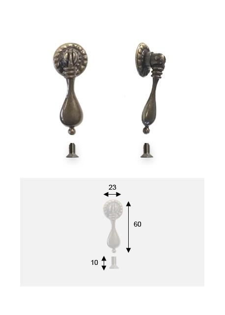 12x Florence Effet Bronze Goutte Poignée 160mm Armoire Porte Cuisine Boutons