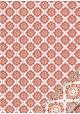 """""""Florence"""" Mosaïque rouge réhaussé or (50x70)"""