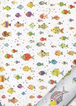 Papier Turnowsky les poissons réhaussés or (50x70)