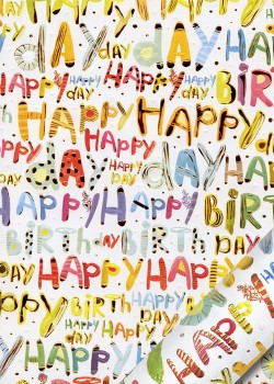 Papier Turnowsky happy birthday pep's réhaussé or (50x70)