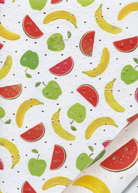 Papier Turnowsky Salade de fruits réhaussée or (50x70)*