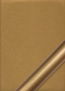"Simili cuir métal ""Fibré"" doré"