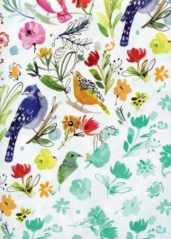 """Recto verso """"Oiseaux et feuillage / fleurs"""" (50x70)"""