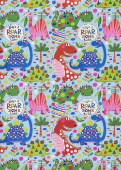 Les dinosaures colorés (50x70)