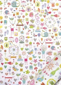 Papier Turnowsky animaux et symboles réhaussé or (50x70)